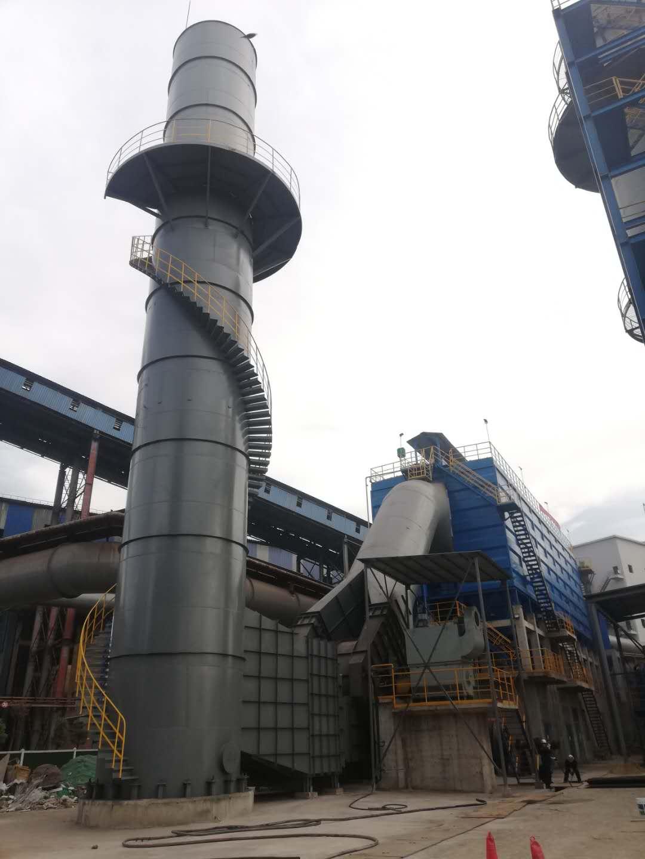 鄂钢1#、2#高炉矿焦槽除尘系统超低排放改造项目成功投产运行!