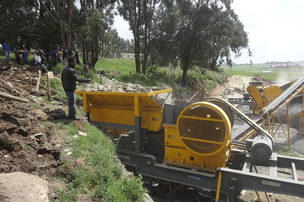 埃塞俄比亚100吨石灰石移动式生产线