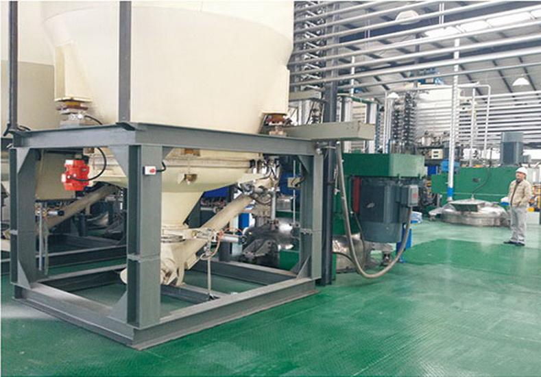 乳膠漆漿料生產自動送粉裝置
