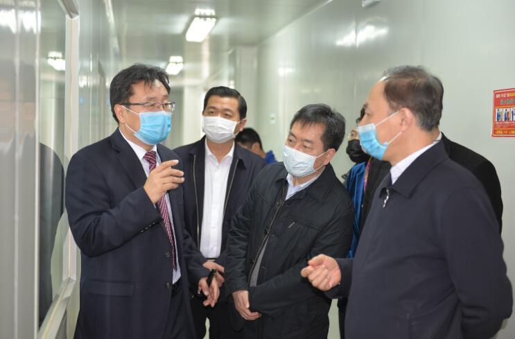 江苏省副省长马秋林一行莅临硕世生物调研指导工作