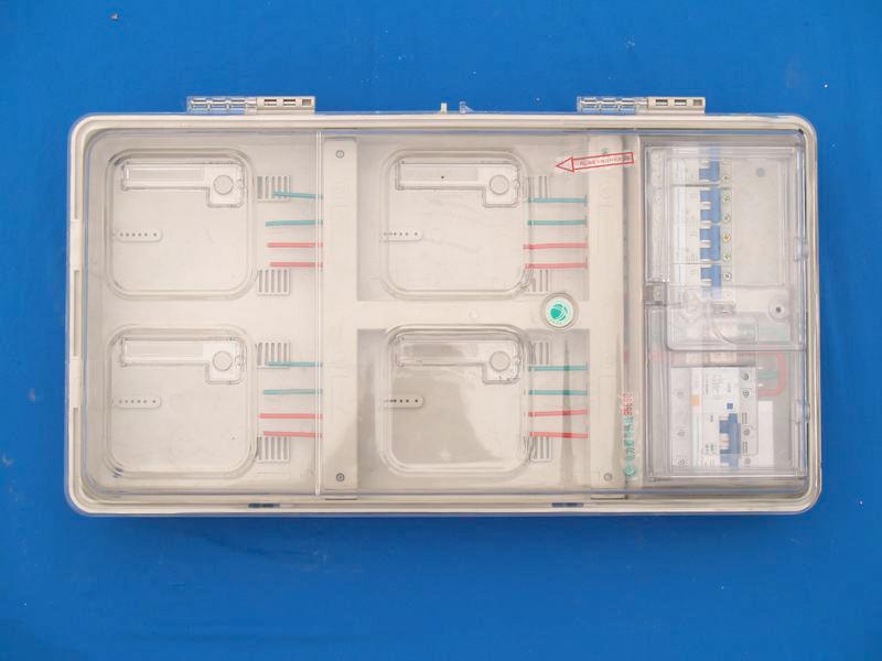 透明PC上下結構電子4戶電表箱