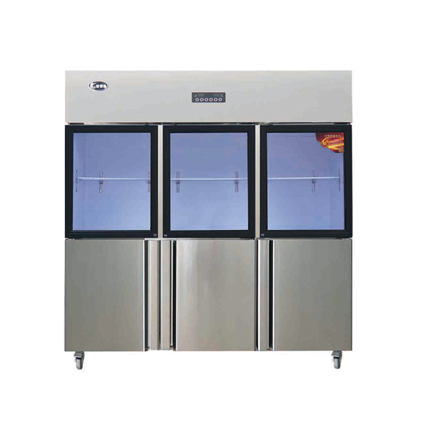 Kitchen Refrigerator with Three Glass Door