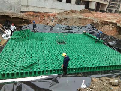 廣州_南沙住宅小區雨水收集利用系統模塊水池項目工程