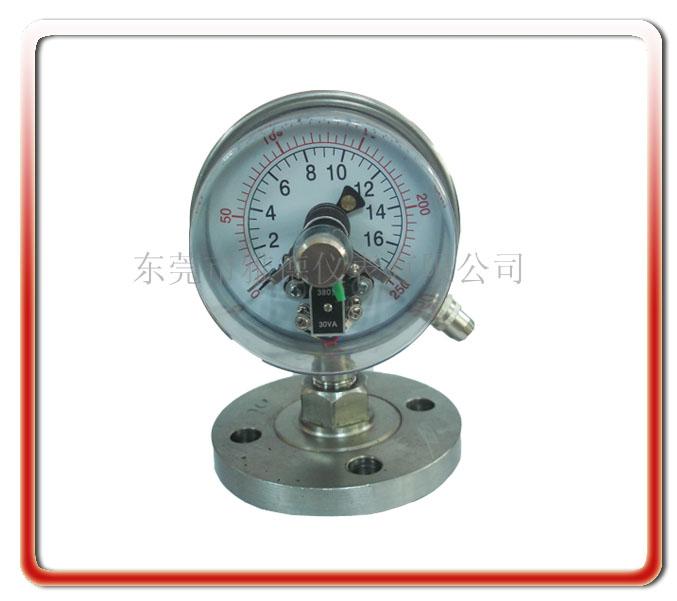 100MM法蘭式隔膜電接點壓力表