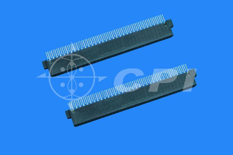 PC母座SMT式中耳朵有檔片有接地槽成品