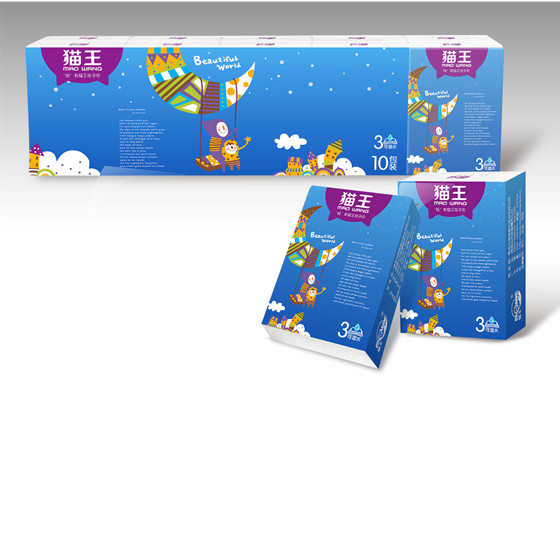 貓王10包手帕紙(三層)