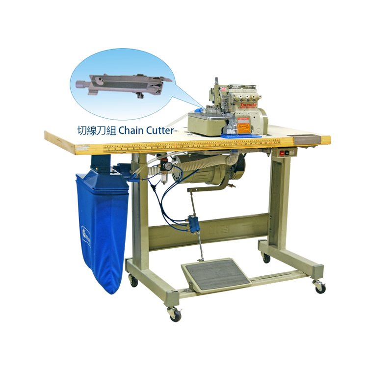 3 Ways Pneumatic Suction Chain Cutter Device With over-lock Machine (with YAMATO)