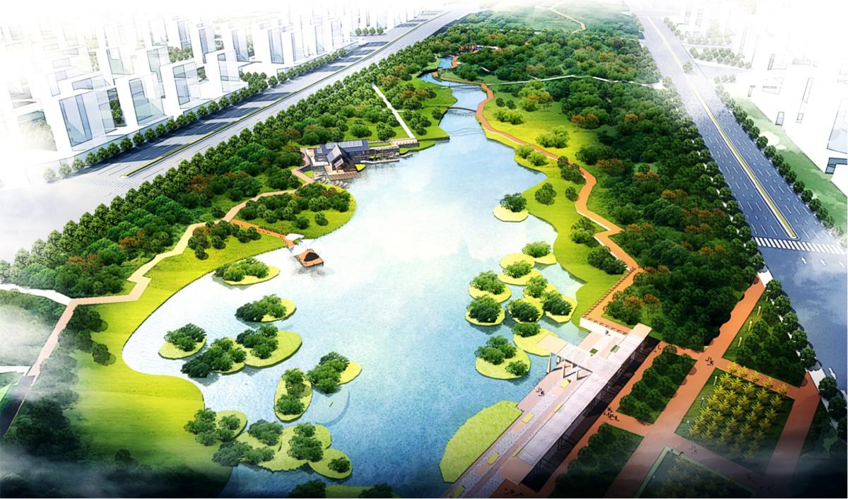 昆明呈貢新城白龍潭入滇河道環境整治工程綠化景觀工程BT項目