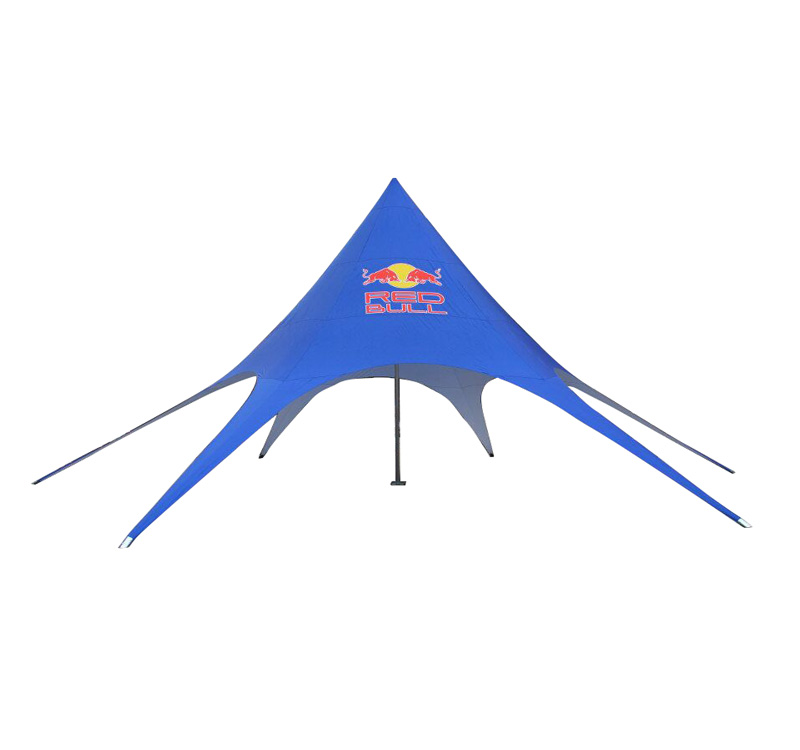 single peak star tent