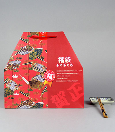 Creative Kraft Carton Customized japan paper bag lucky bag