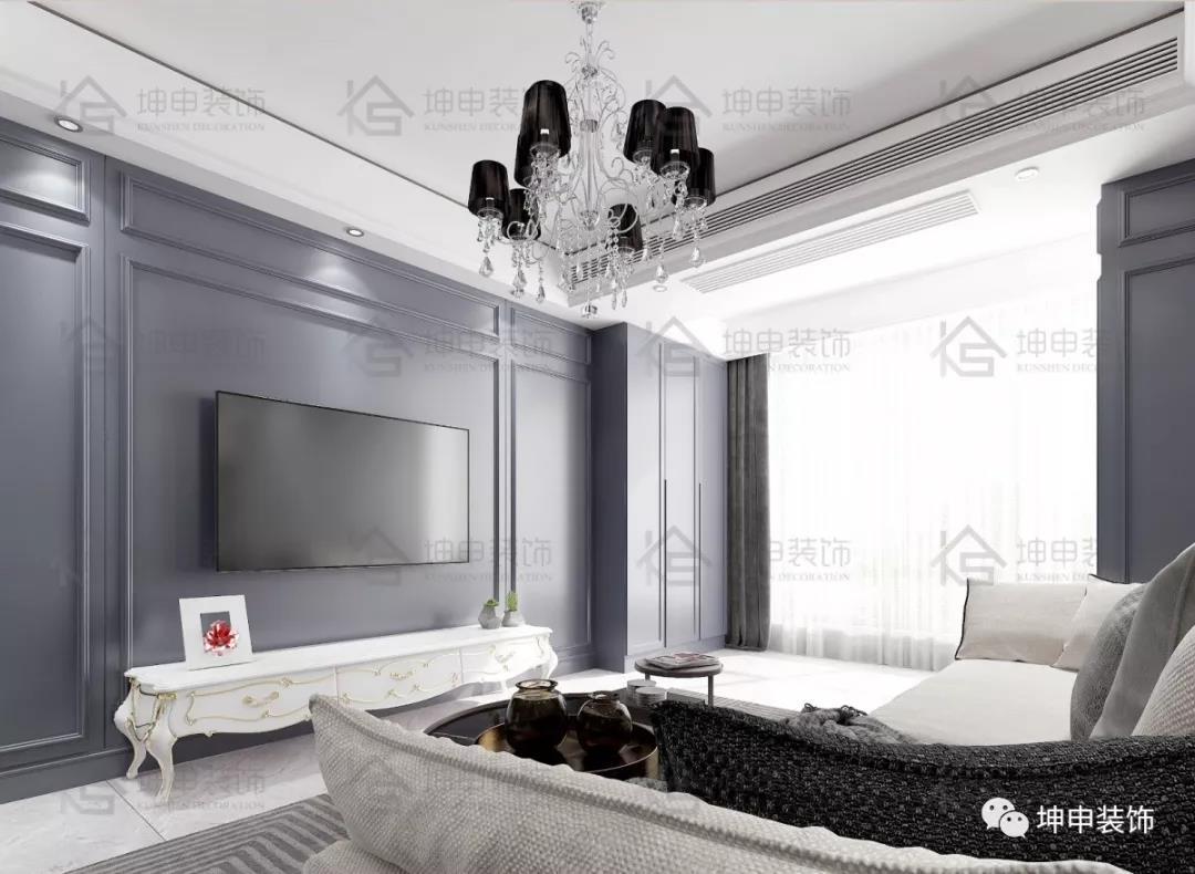 坤申设计 | 那一抹蓝,让家更添一份质感,76.73m2北欧设计