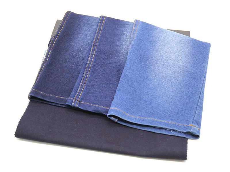 WFI21520T 靛蓝低弹丝大毛圈 32S靛蓝+75D+20D 210克