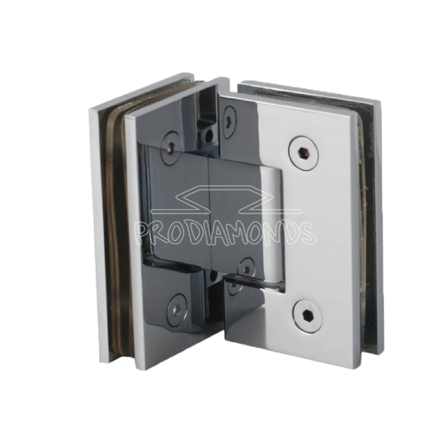 Glass to Glass 90 degree squre glass cut out hinge