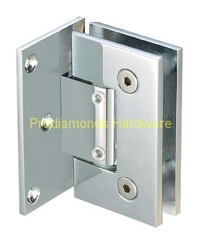 Wall to Glass Full Back Plate Econormy Shower Door Hinges