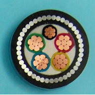 5、钢丝铠装铜芯聚氯乙烯绝缘聚氯乙烯护套电力电缆
