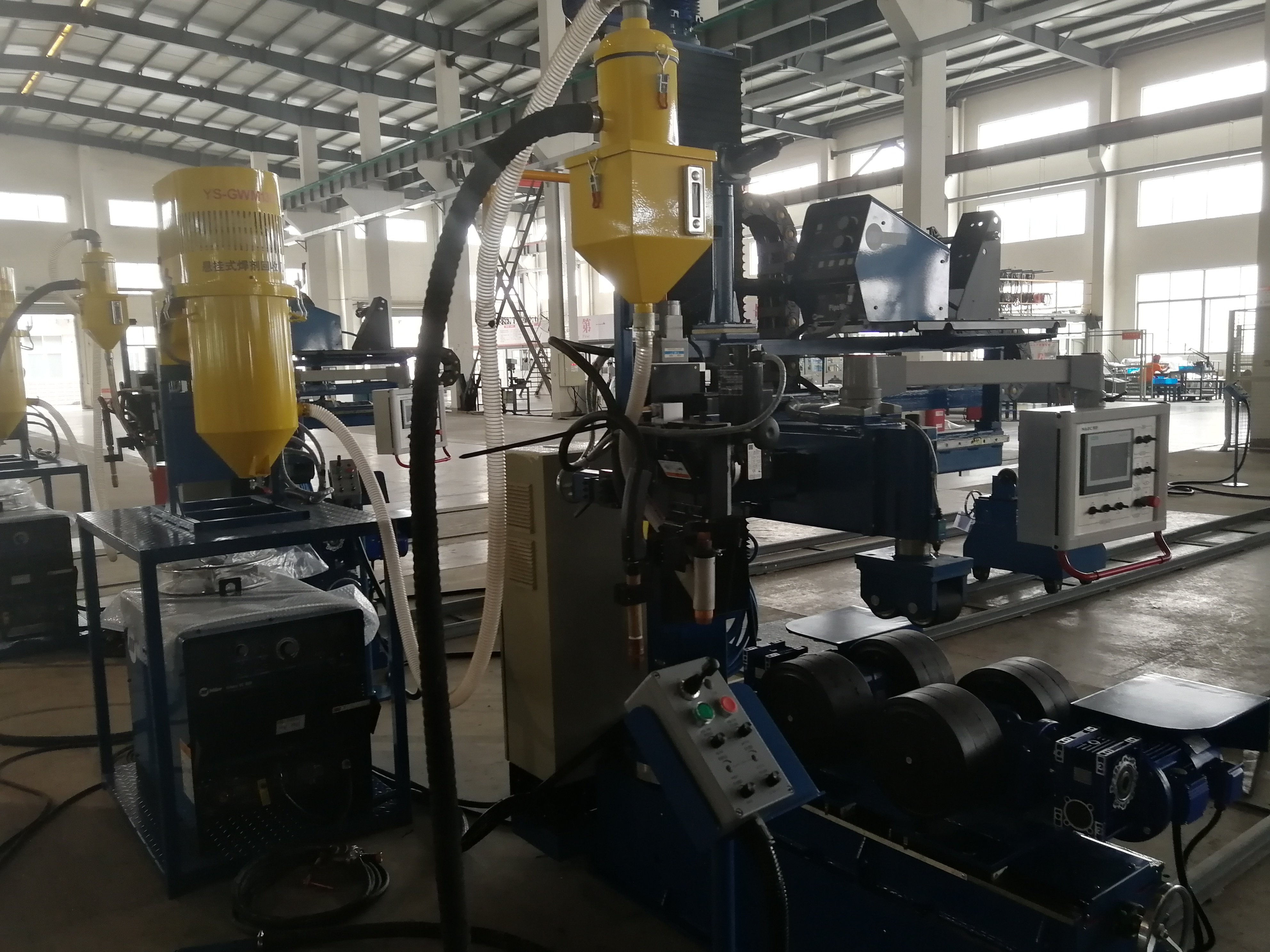 NAEC Friendly Use Automatic Welding Flux Recycling System.