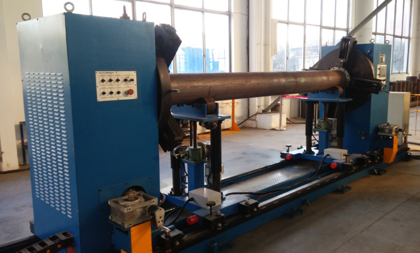 Double flange fitting up machine