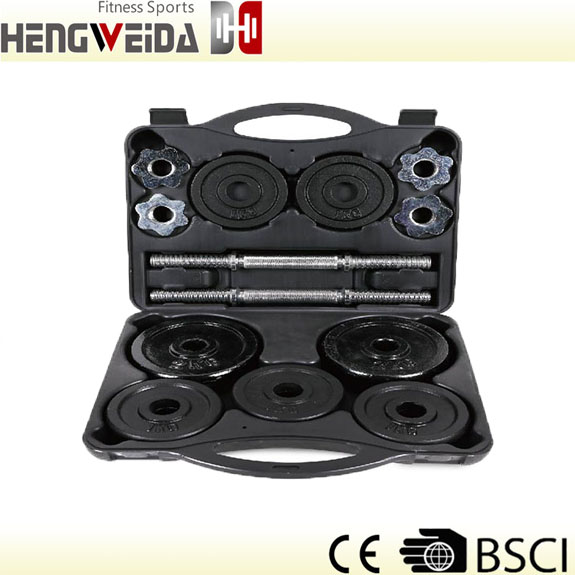 HWD3204-20KGS Black Painted Dumbbell Set