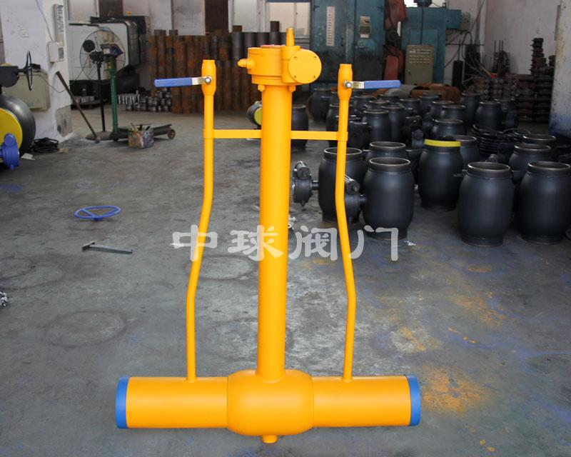Dispersed fully welded ball valve 01