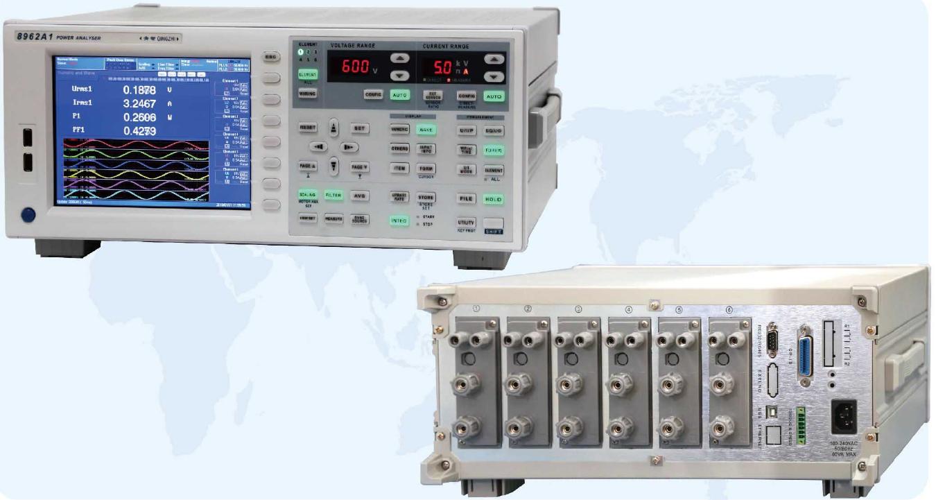 高精度、寬頻帶、六通道功率分析儀8962A1