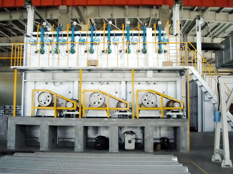 Homogenizing furnace for aluminum bar or billet