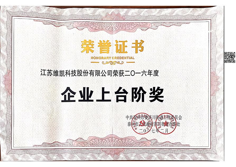 企業上臺階獎