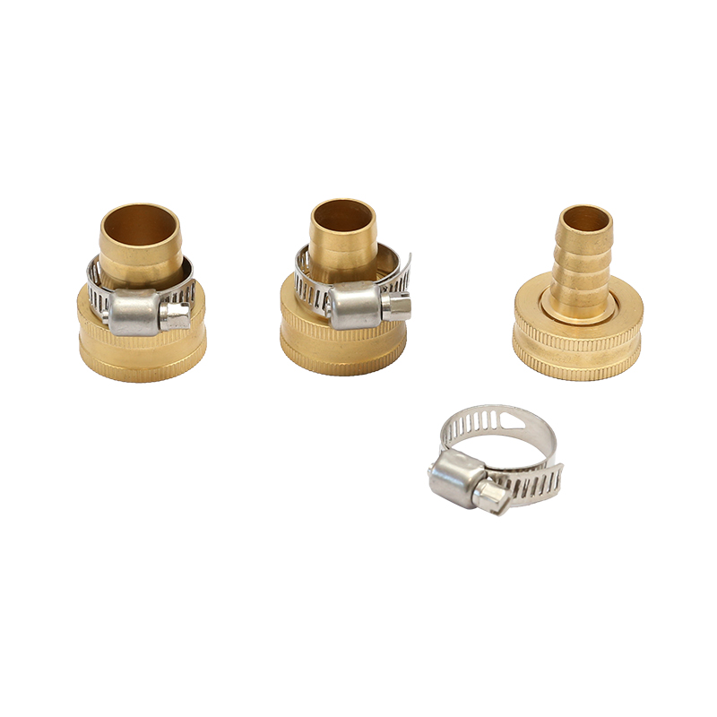 "1/2"" - 3/4"" Brass Hose Coupling With Stainless Steel Clamp"