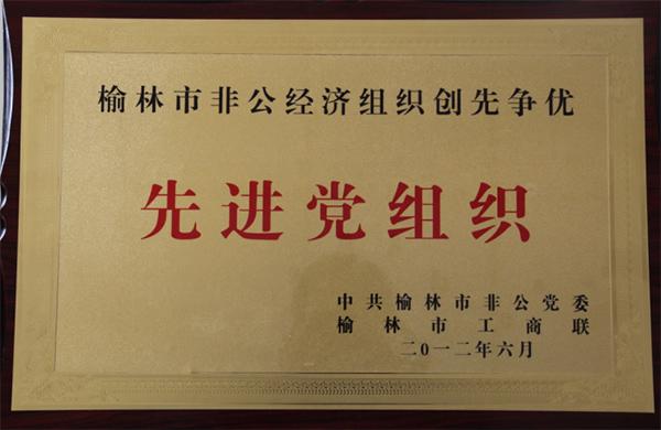 榆林市非公經濟組織創先爭優先進黨組織