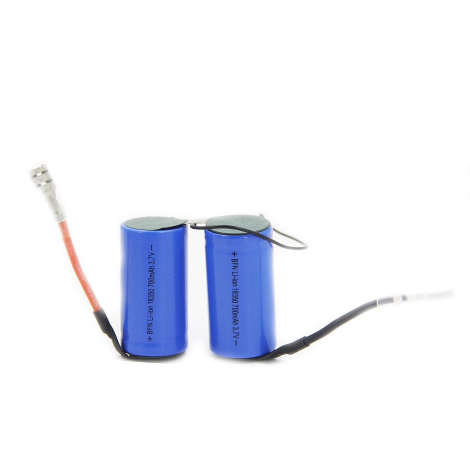 INR NCM 18350 700mAh 7.4V Lithium ion battery pack for juicer