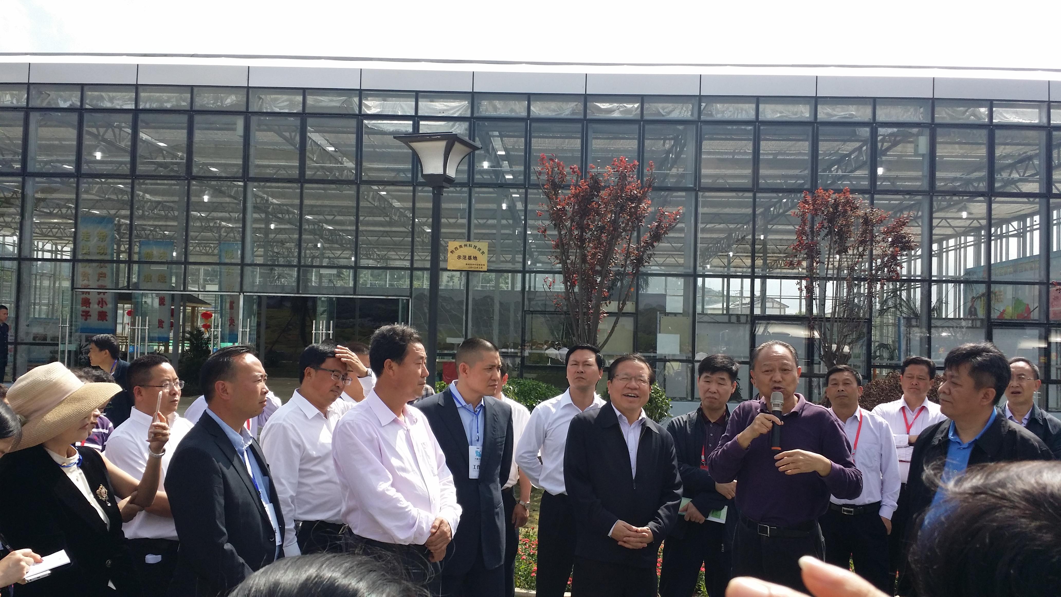 贵州常务副省长秦如培到企业视察工作