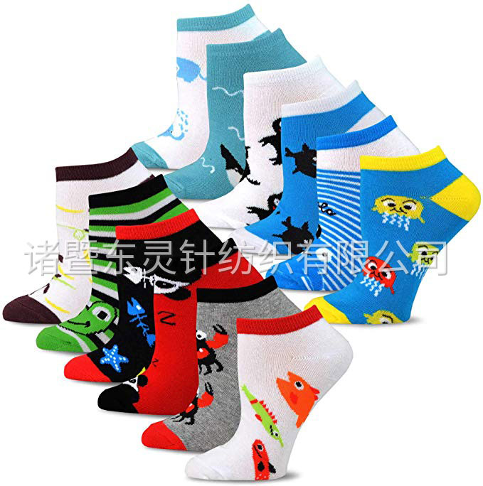 Dongling Fashion Invisible / Low-cut Fun Socks 12 Pairs