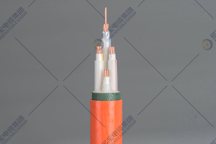 Flexible mineral insulated fire-proof cable