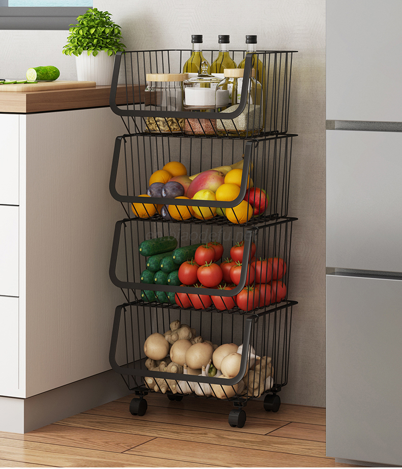 Nordic ins kitchen fruit and vegetable storage rack