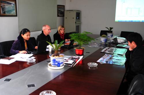 公司總裁和美卓總裁洽談全球合作
