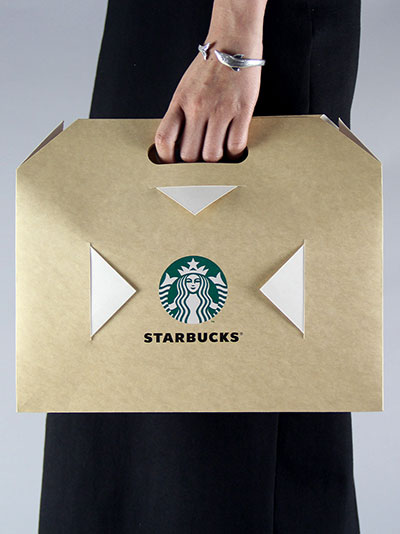 Creative Kraft Carton Customized gift bag packaging bag food bag starbucks