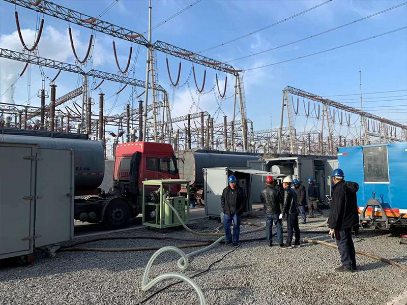 2020年4月,我司為溪洛渡直流送電工程受端站南網從化換流站供應高品質變壓器油