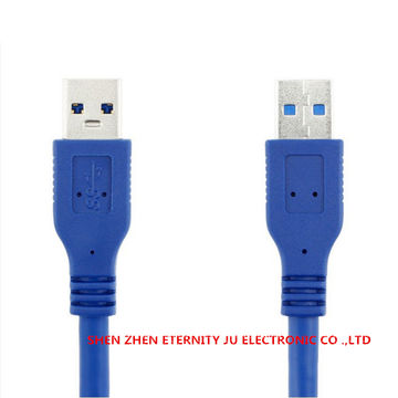 High Speed Blue USB 3.0 A type Male to Male USB Extension Cable AM TO AM 4.8Gbps Support 1M-3M