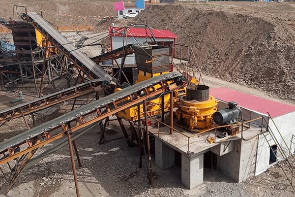 青海刚察时产160吨鹅卵石制砂生产线