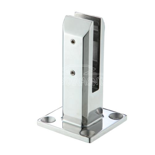 Frameless Glass Pool Fence Spigot (Square) with Base Plate