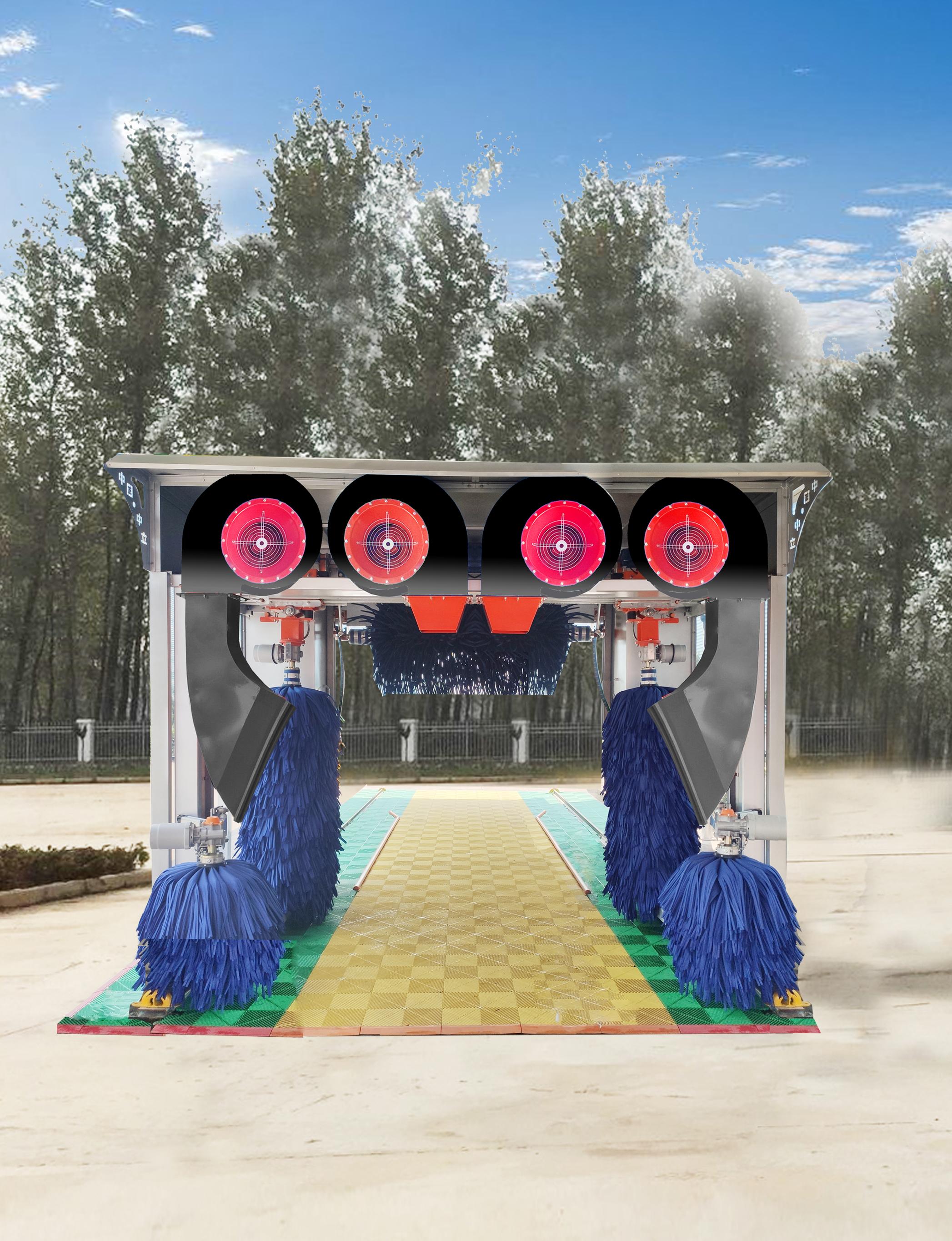 龍門往復式無人機守洗車機
