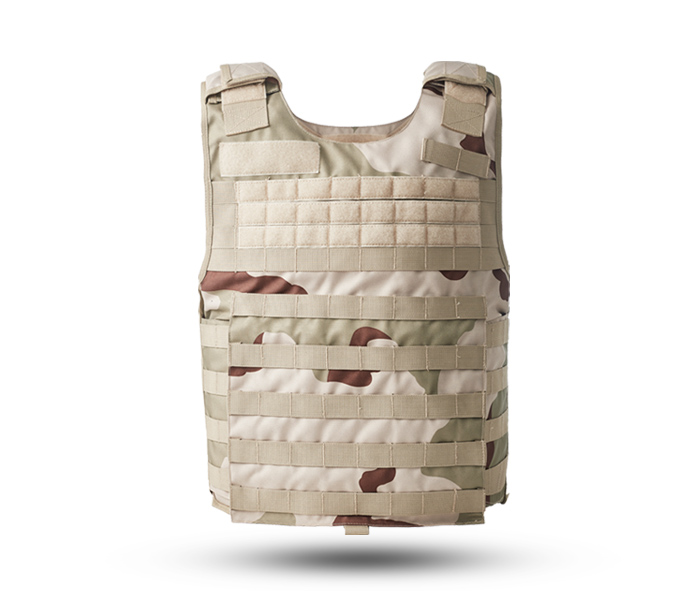 Desert camouflage tactical body armor