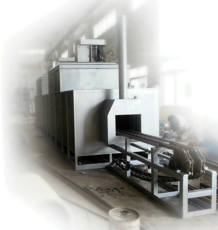 Heating furnace for aluminum extrusion mould