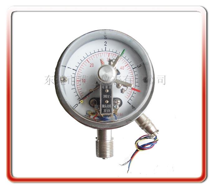 100MM徑向全鋼電接點壓力表