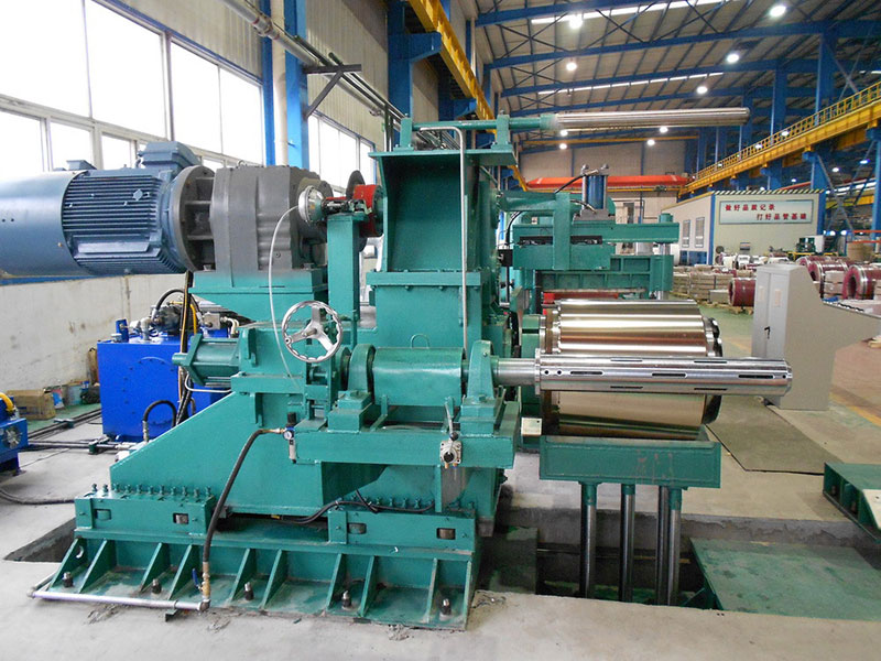 Bright annealing line for continuous precision thin coils