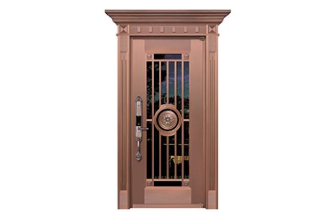 WF-19071 玻璃铜艺门