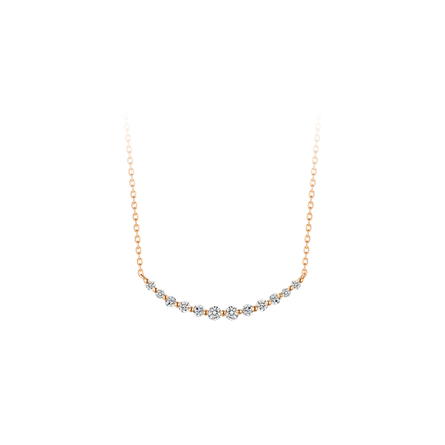 18K Gold Diamond Smile Chain