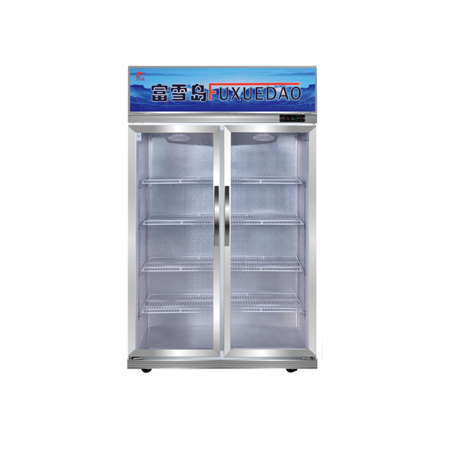 Showcase Cooler with Fan-assisting System