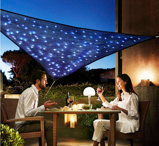 LED sun shade sails