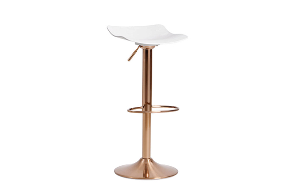 Adjustable PP seat rose gold swivel bar stool bar chair 1960k G