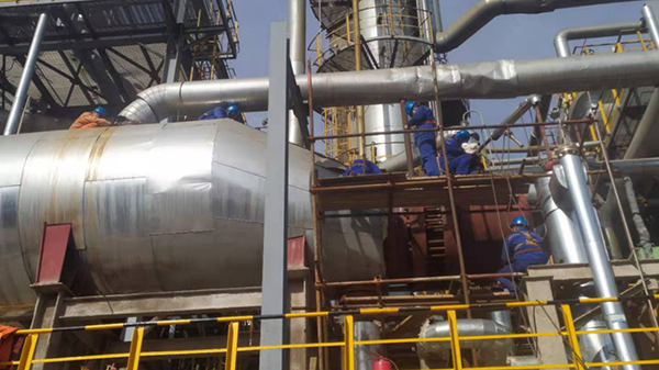 抢修再沸器 确保安全生产